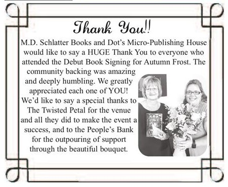 Book Signing Thank you