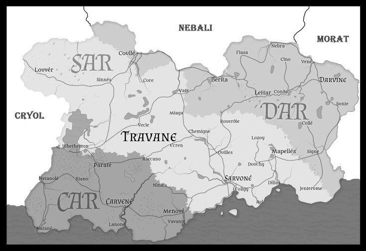 Travane Map Grayscale
